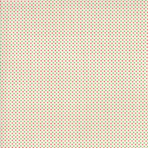 Moda - Essential Mini Dot - White Red Green Cotton Patchwork Fabric